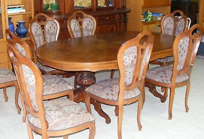 Dining Table, Large, With 8 Chairs