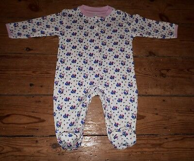 baby girls JOJO MAMAN BEBE floral ditsy white sleepsuit all in one 0-3 months