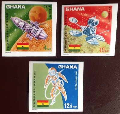 Ghana 1967 Peaceful Use of Outer Space IMPERF Set MNH