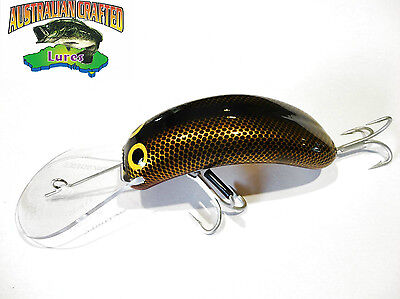 Australian Crafted Lures- cod 90mm invader gold carp 39 col;39 20ft a.c.lures