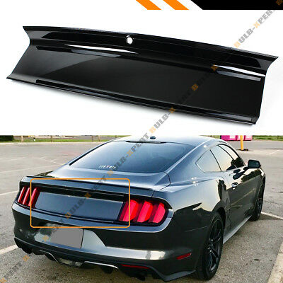 For 2015-19 Ford Mustang Plain Glossy Black Trunk Decklid Trim Panel Replacement