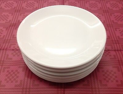 6 of White Melamine Plates Ceramic Look 17cm or 20cm Nursery Children Camping