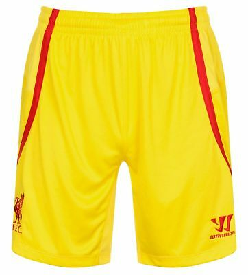 NEW Official Warrior FC Liverpool Away 3rd Shorts 2014 2015 SMALL Yellow A631-3