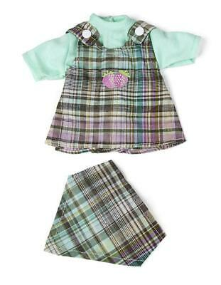 Miniland Doll Clothes Checked Dress and Shawl 32cm