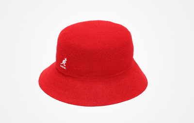 Red NEW Authentic Kangol Bermuda Casual Bucket Hat Cap