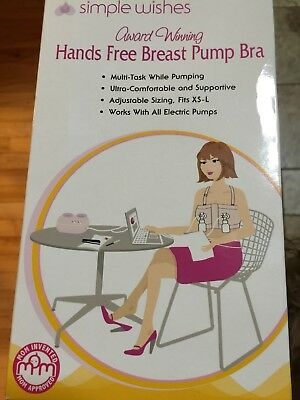 Simple Wishes Hands Free Pumping Bra - Pink - Fits XS to L
