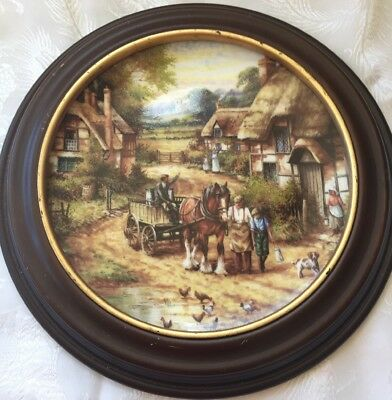 Wedgwood Collectors Plate Early Morning Milk 1991 Issue Country Days Woo Mounted