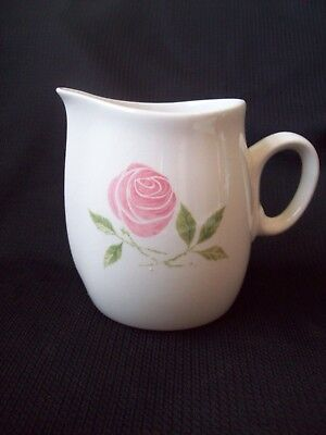 Pink a Dilly Creamer Vintage Franciscan White Stoneware circa 1950s-1960s