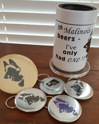 Malinois Belgian Shepherd Artist Originals Gifts Cooler Bottle Openers Mirror