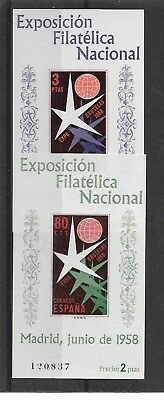 Spain 1958 Brussels Expo Miniature Sheets NHM