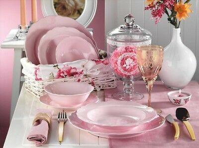 Kütahya 24 pcs. SERVICE DE TABLE / la Chine rose tellerservice PORCELAINE