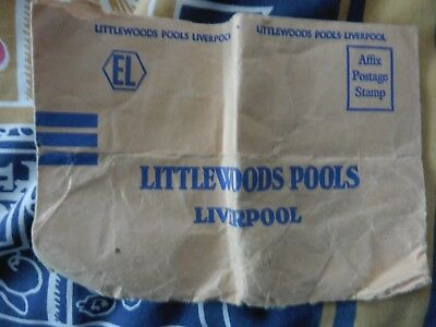 Littlewoods  Pools Liverpool Envelope Vintage Rare 1960/1970's