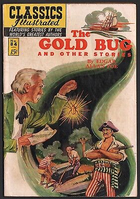 Classics Illustrated #84 HRN 85 VG 4.0 OW The Gold Bug ORIGINAL ED