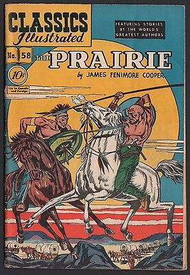 Classics Illustrated #58 HRN 60 VG 4.0 OW/W The Prairie ORIGINAL EDITION