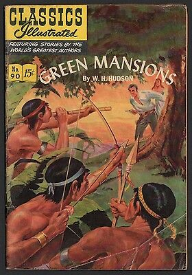 Classics Illustrated #90 HRN 89 G/VG 3.0 OW Green Mansions ORIGINAL EDITION