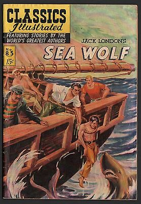 Classics Illustrated #85 HRN 85 G/VG 3.0 OW Jack London's Sea Wolf ORIG ED