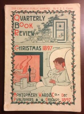 Quarterly Book Review Christmas 1897 Montgomery Ward Publishers