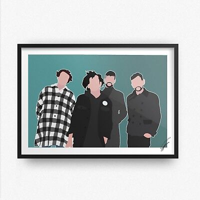 The 1975 INSPIRED WALL ART Print / Poster Minimal A4 A3 rock music manchester