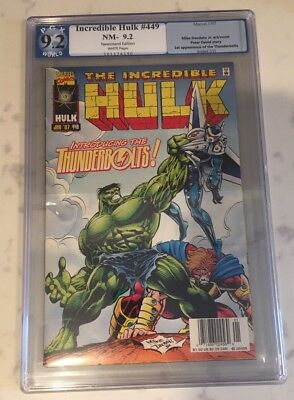 Incredible Hulk #449 - 1st Appearance of The Thunderbolts - PGX 9.2 - Not CGC