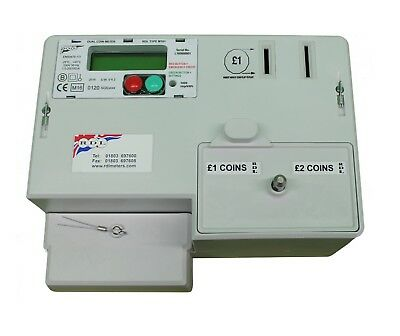 RDL NEW £1 M101 COIN STERLING £1 & £2 DIGITAL PREPAY ELECTRIC METER Flat