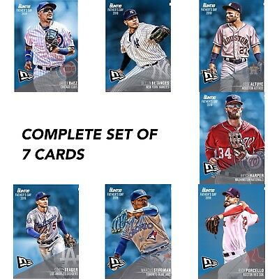 2018 FATHER'S DAY NEW ERA CAP BASE COMPLETE SET OF 7 Topps Bunt Digital Card