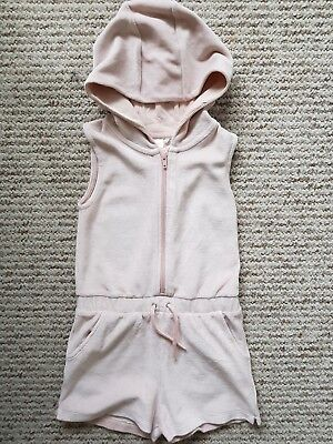 Gorgeous girls hooded Velour NEXT Playsuit age 5-6yrs