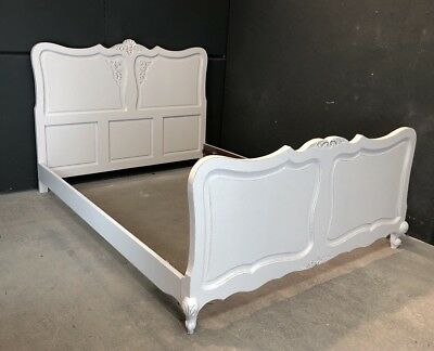 Vintage French Double /king size bed/ Painted French bed shabby chic style(VB91)