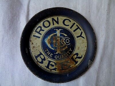 Vintage Iron City Beer Tip Tray Lebanon Pa Iron City Brewing Co