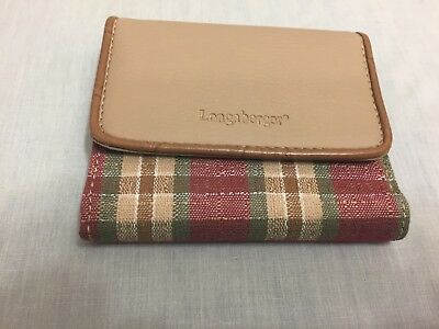 Longaberger Never Used Plaid Lady's Wallet Mint Condition See All Pictures