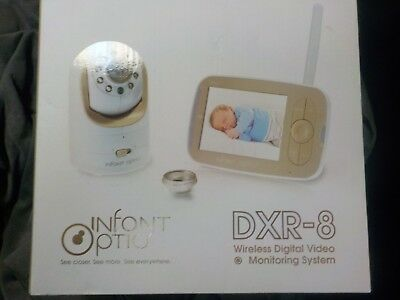 Infant Optics DXR-8 Video Baby Monitor with Interchangeable Optical Lens New