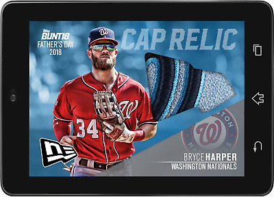 Topps BUNT Bryce Harper NEW ERA RELIC FATHERS DAY 2018 [DIGITAL CARD]