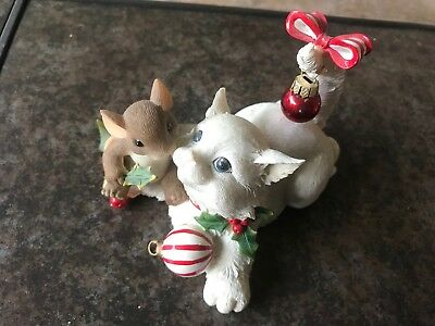 Charming Tails FRIENDS MAKE THE HOLIDAY PURRFECT Mouse Cat/Collectibles