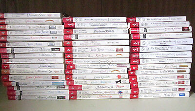 Harlequin Presents Romance Lot of 45 Graham,Mortimer,Lee, Yates Assorted Years