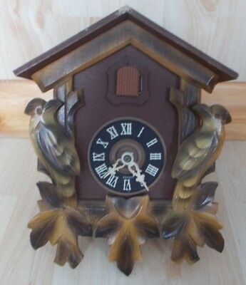 Old German Black Forest Carved Cuckoo Clock Collectable Spares Or Repair