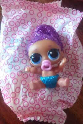 lol surprise Doll lil sisters Series 4 - 038 Lil BLING QUEEN ULTRA RARE GLITTER