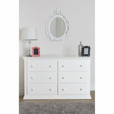 Suite Bebe Harley 6 Drawer Double Dresser, White