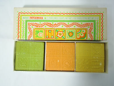 1970s Avon Patchwork Perfumed Soaps In Box 3 oz. Each Vintage