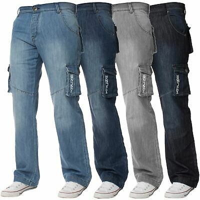 Mens Cargo Combat Trousers Jeans Heavy Duty Work Casual Pants Big Tall All Sizes