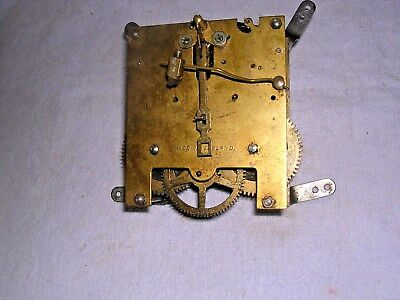 CLOCK  PARTS ,  BRASS  CLOCK MOVEMENT  G WO   w
