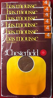 1 Pair Vintage French Chesterfield Bas Mousse Nylon Stockings Size 4