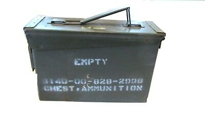 """US Army Military Surplus M19A1 Ammo Can w/lid 11"""" x 4"""" x 7"""" 200 Round 7.62mm"""