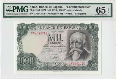 17.9.1971 Bank Of Spain 1000 Pesetas **madrid** (( Pmg 65 Epq ))