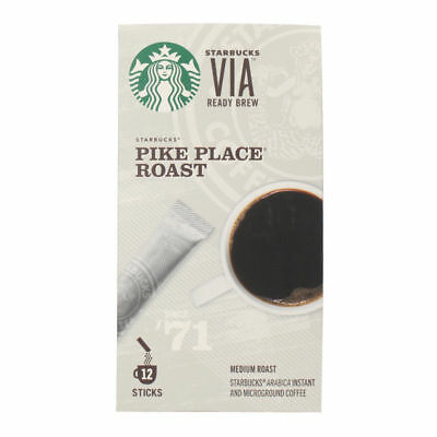 Starbucks VIA Ready Brew Coffee - Pike Place Roast - 12 Stick Pack
