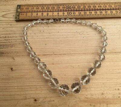 A Gorgeous Vintage Necklace, Vintage Faceted Glass Bead Necklace, Well Made