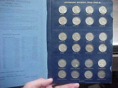 1938 - 1964 Complete 71 Coin Jefferson Nickel Set With All Wartime & Bu 1950 D
