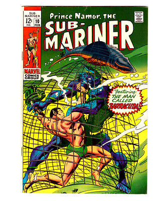 THE SUB-MARINER #10 in FN+ condition a 1968 MARVEL Silver Age comic