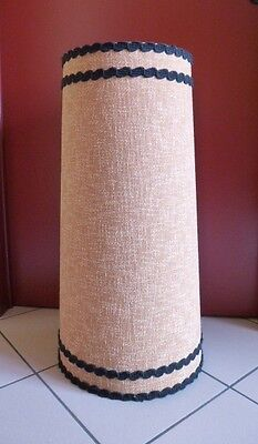 Vintage Design 60 70 Enorme Xl Paralume Conico Lampada Extra Tall Lampshade