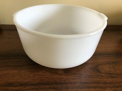 "Vintage Large 9"" Glassbake for Sunbeam Mixing Bowl White Milk Glass"