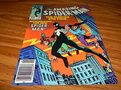 "BIG KEY HIGH GRADE Bronze Age Comic Spider-Man # 252 ""1st Black Costume"" VF+ Cd."