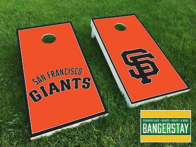 Handcrafted Cornhole Boards with Scorestrip- San Francisco Giants Set (SFG4)